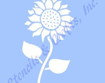 45 SUNFLOWER FLOWER STENCIL Flowers Stencils Background Pattern Petals Plant Template Craft Paint Art Wood Canvas Templates Scrapbook New