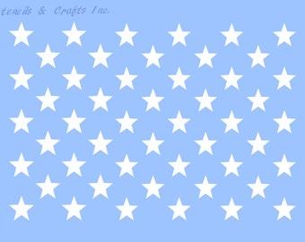 50 stars stencil etsy