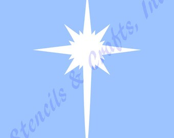 8 star bethlehem stencil craft celestial christmas stars etsy
