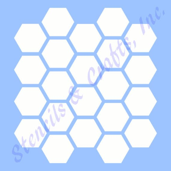 1 HONEYCOMB HEXAGON Schablone Bienenstock Form | Etsy