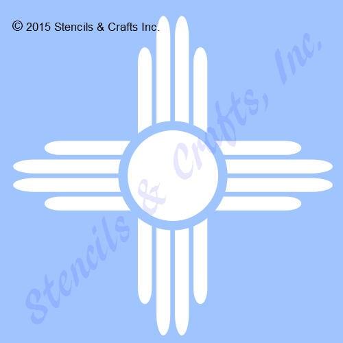 5 Zia Sun Stencil Symbol Western Southwestern Template Etsy