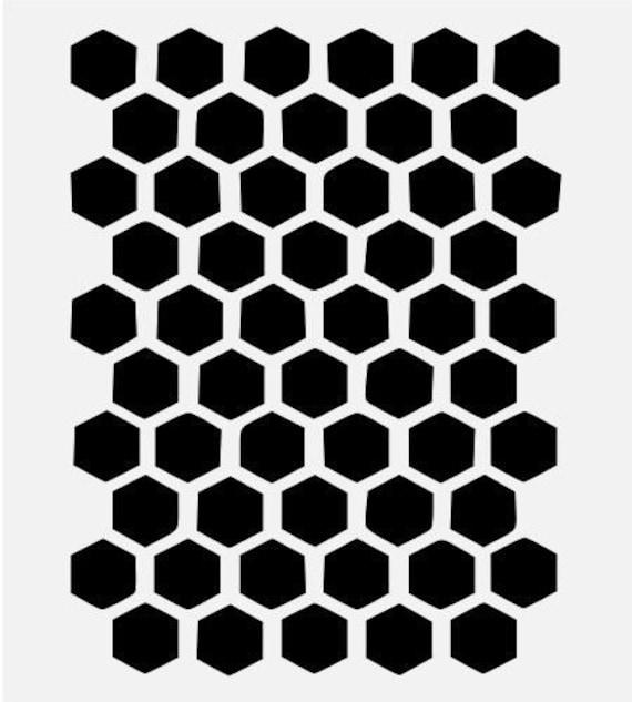 Waben-SECHSECK-Schablone Bienenstock Muster Biene Schablonen | Etsy