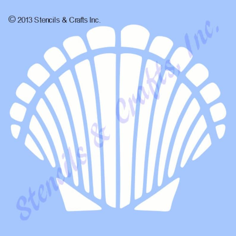 422f791612540 4 SEASHELL SHELL STENCIL sea beach ocean stencils
