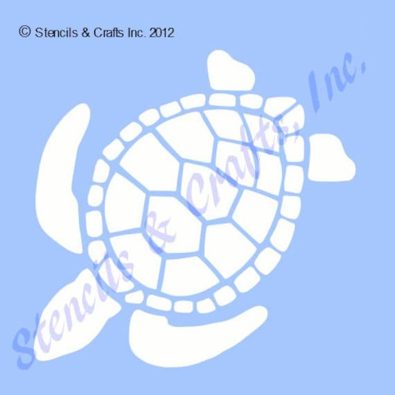 4 sea turtle stencil animal template craft templates etsy