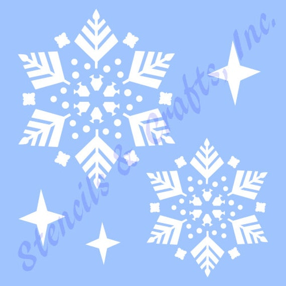 Snowflakes Christmas Stencil Stencils Template Templates Craft Paint Pochoir Pattern Scrapbook Paint Background 1 New
