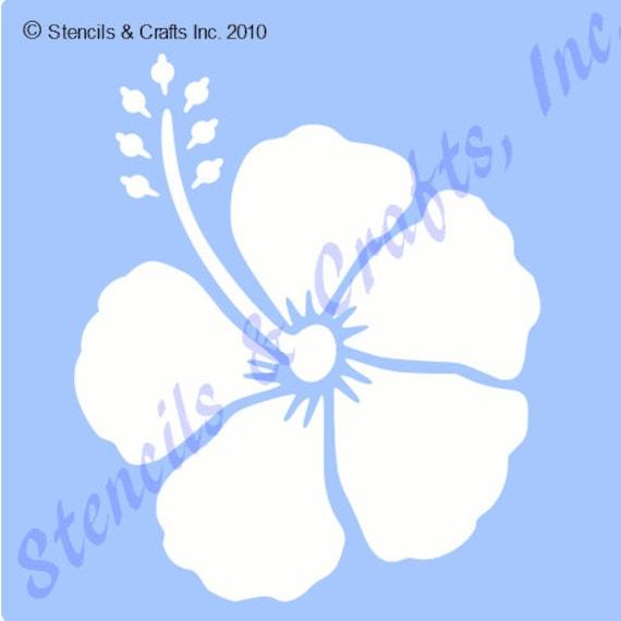3 Hibiskus Schablone tropischen Blumen Vorlage Vorlagen | Etsy