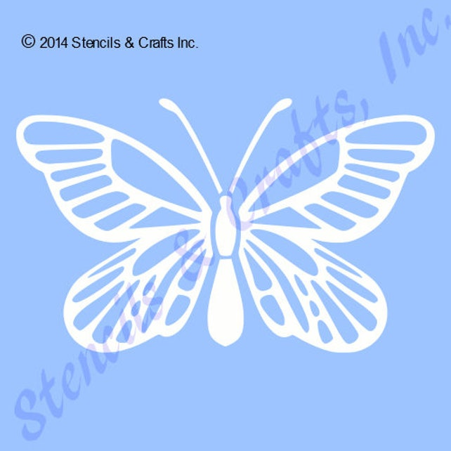 7 BUTTERFLY STENCIL TEMPLATE craft stencils insect | Etsy