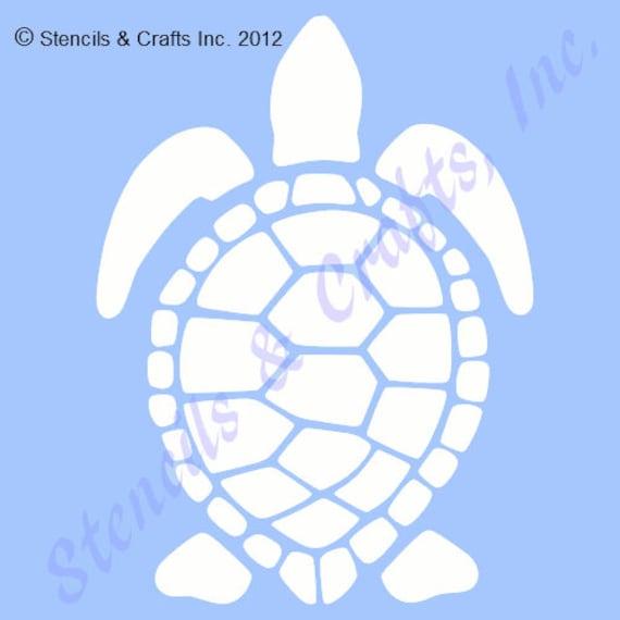 14 sea turtle stencil big template animal turtles etsy