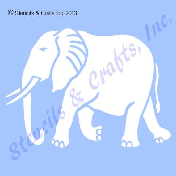 4 elephant stencil template safari stencils animal etsy image 0 maxwellsz