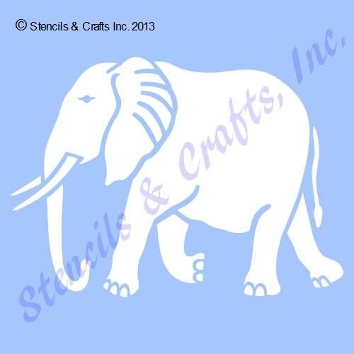 4 Elefant Schablone Vorlage Safari Schablonen Etsy