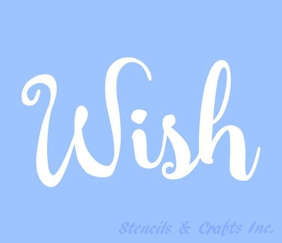3.5H WISH STENCIL STENCILS Template Templates Craft Word