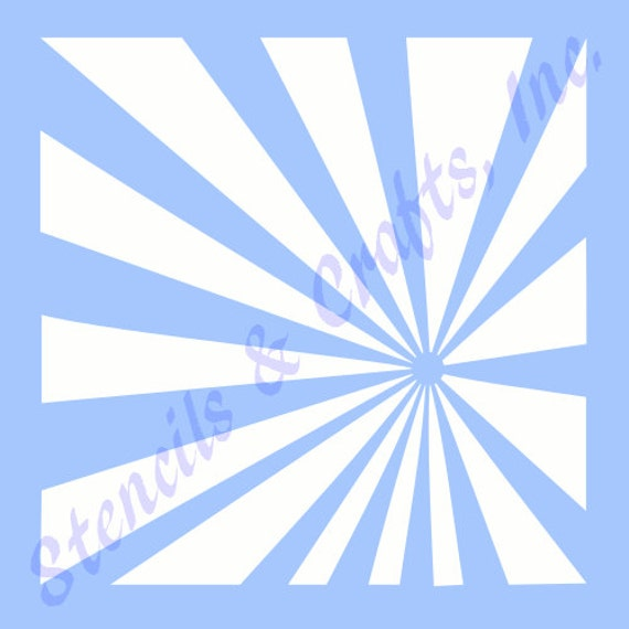 starburst sunburst stencil stencils background template rays etsy