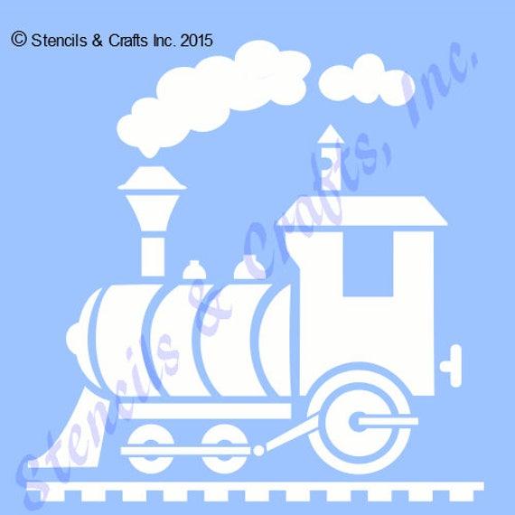 5 train engine stencil template stencils templates etsy