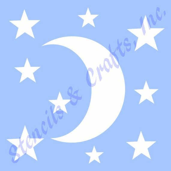 CRESCENT MOON BORDER STENCIL MANY SIZES CELESTIAL ART TEMPLATE PAINT CRAFT NEW