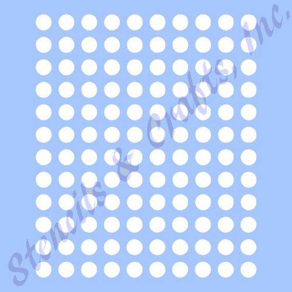 Polka Dots Stencil Circle Stencils Template Templates Craft Etsy