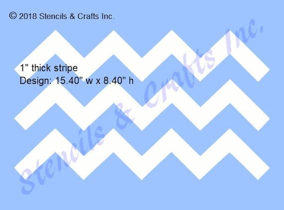 Reusable Mylar Chevron Stencil Template for Crafting Canvas decor Wall art etc