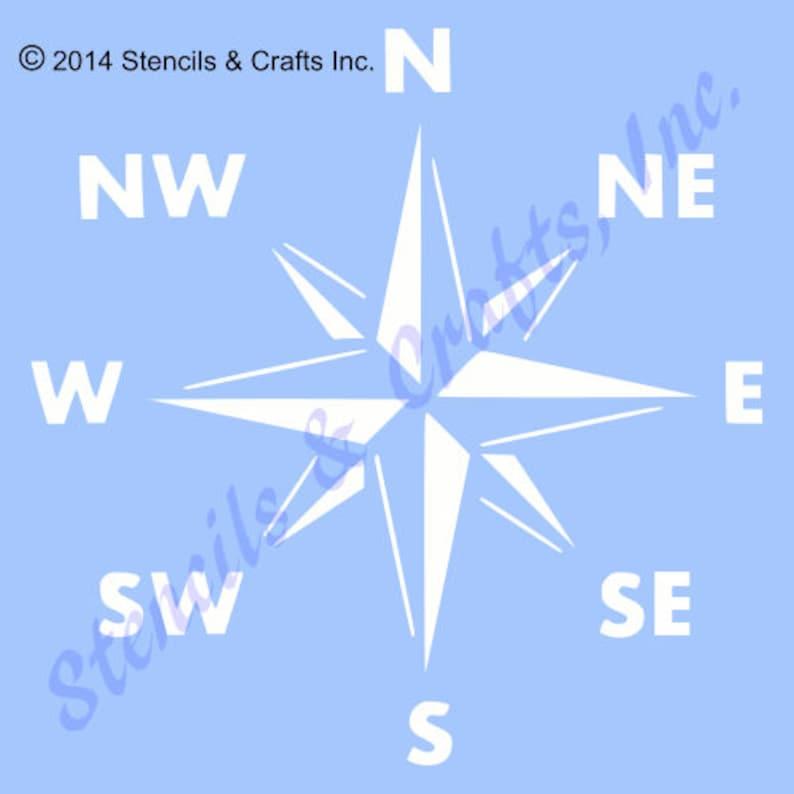 COMPASS STENCIL NAUTICAL ocean sea marine beach craft stencils template templates background pattern new reusable 12 x 12 free shipping