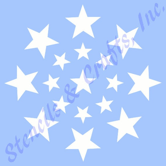 "5/"" STARBURST STENCIL CELESTIAL TEMPLATE ART PAINT PATTERN BACKGROUND CRAFT NEW"