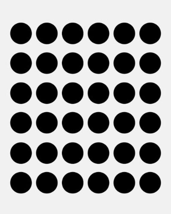polka dots 1 stencil circle circles dot stencils etsy