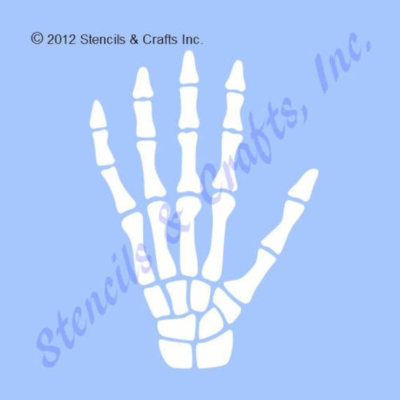 Skeleton hand stencil bone stencil craft template scrapbook etsy image 0 maxwellsz