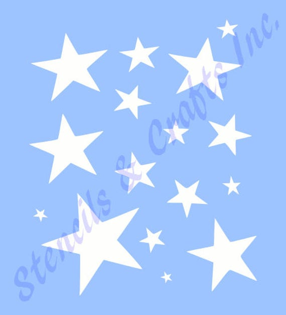 "9/"" PRIMITIVE STAR STENCILS TEMPLATE CRAFT STARS CELESTIAL PAINT TEMPLATES #2 NEW"