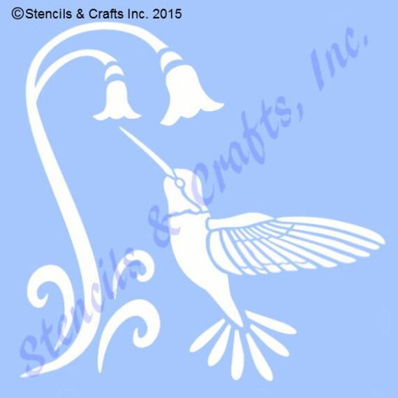 4 hummingbird bird stencil stencils template flower etsy