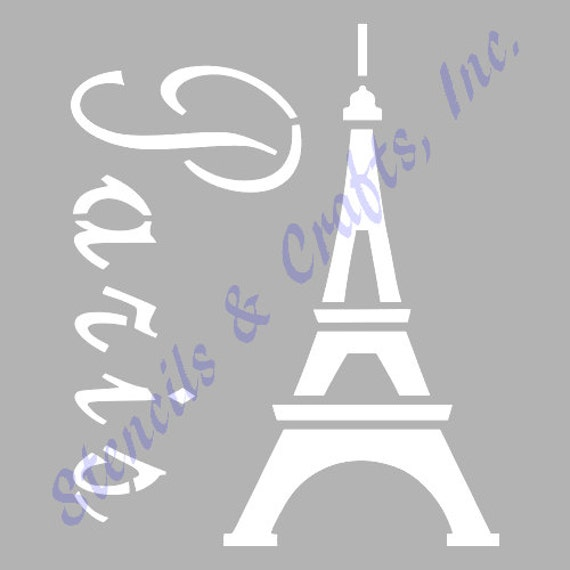 EIFFEL TOWER PARIS france stencil stencils template templates | Etsy