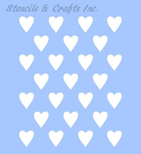 1 2 HEART STENCIL TEMPLATE Hearts Mini Template