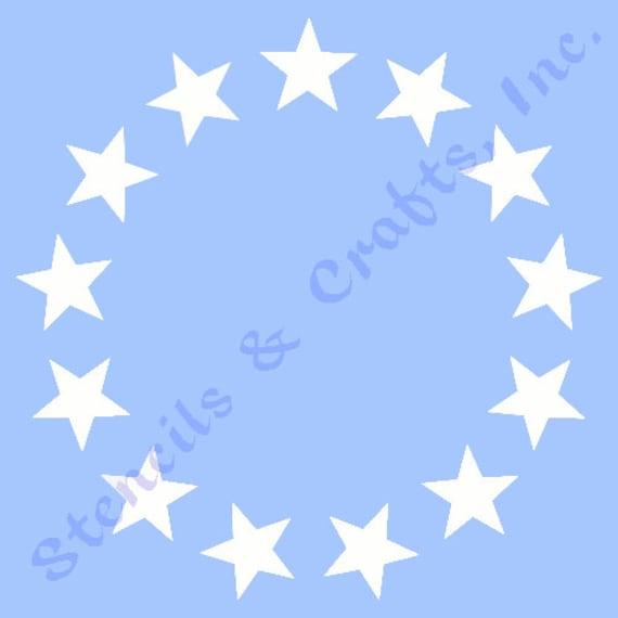 1 star circle stencil 13 stars stencils etsy