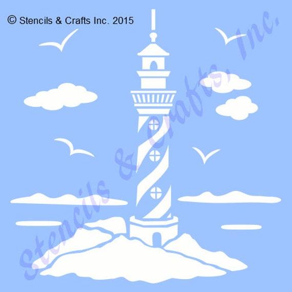 9 1 2 LIGHTHOUSE STENCIL NAUTICAL Coastal Templates
