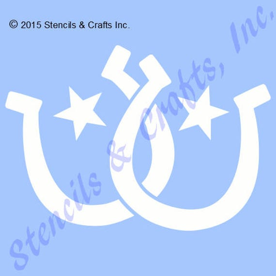 HORSESHOE STENCIL WESTERN TEMPLATE HORSE STAR PATTERN CRAFT PAINT COLOR ART NEW