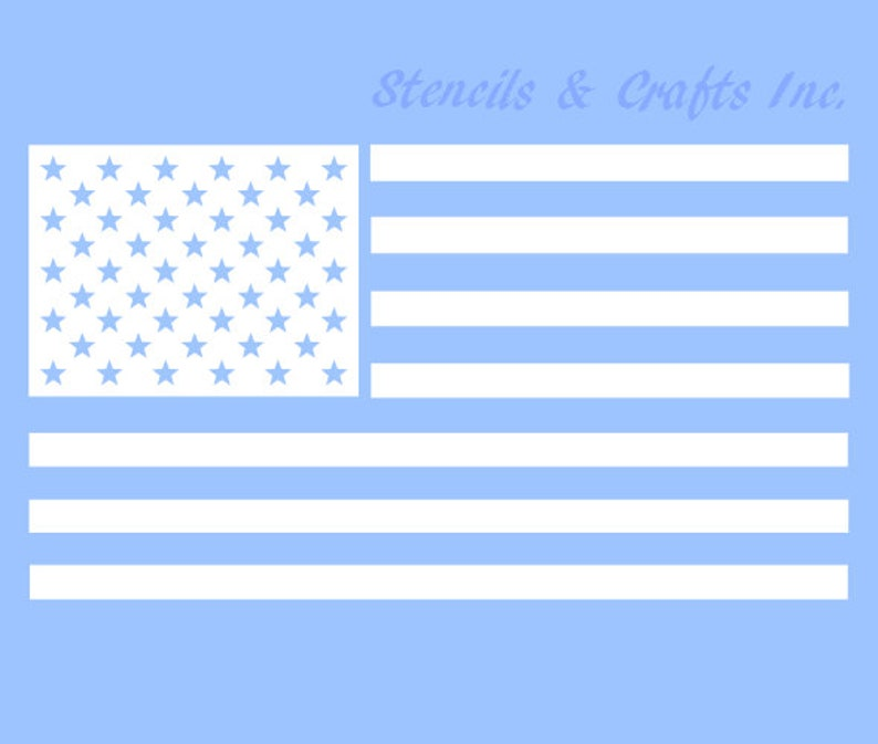 This is a photo of Fan American Flag Star Template Printable