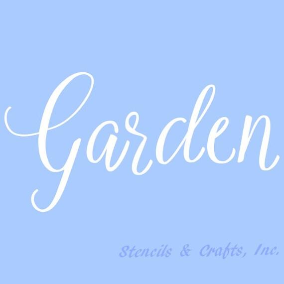 10 1 2 garden stencil stencils word art background etsy