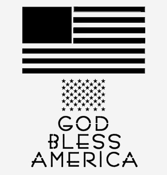 AMERICAN FLAG STENCIL Stencils Template Star Stars God Bless