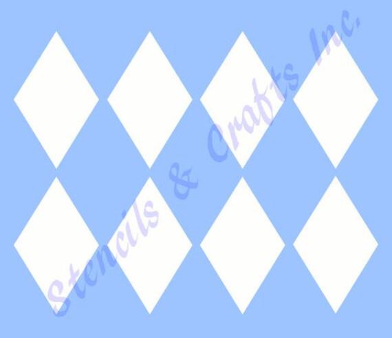4 diamond shape stencil template diamonds templates etsy