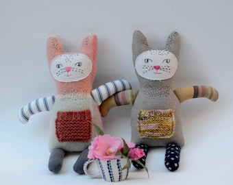 Cat Softie Pattern Soft Toy Sewing Pattern