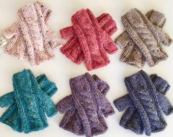 Weekend Gloves Knitting Pattern - Hand and Arm Warmer Fingerless Gloves