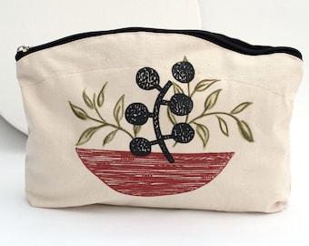 Cotton Make Up Bag / Wash Bag/ Purse/ Zipper Bag