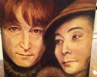 John and Yoko Blank Card  -  Ponte's Historic Figures Art Cards