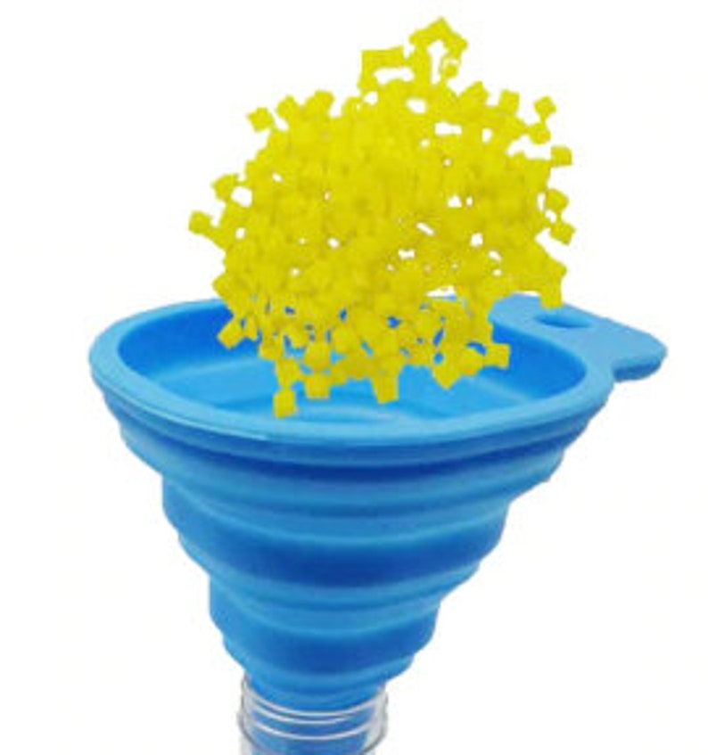 COLLAPSIBLE SILICONE FUNNEL for Easy Transfer of Diamond Drills Into Containers Diamond Drill Funnel Seed Bead Funnel Diamond Painting Tools