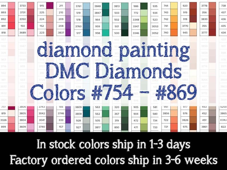 170 Pieces Color 754  869 DMC Diamonds for Diamonds image 1
