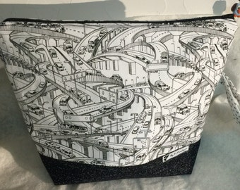 Large Zipper Pouch, Cosmetic Zipper Bag, Travel Bag, Make Up Bag, Toiletry Bag, Accessory Bag, Cosmetic Bag