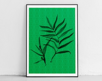 Palm Tree Art Prints Tropical Printable Palm Tree Wall Etsy