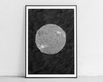 Sun Print, Sunshine Poster, Sun Printable, Sun Photography, Galaxy Wall Art, Space Print, Minimalist Poster