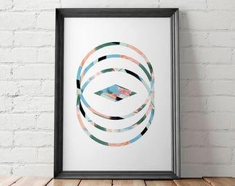 Modern Printable, Modern Art Print, Modern Wall Art, Modern Home Decor, Geometric Printable, Circles Printable, Minimalist Printable