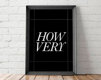 Minimal Movie Poster, Heathers, Funny Poster Print, Geekery Poster, Art Print, How Very