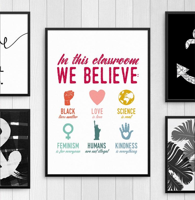 Classroom Posters, Protest Poster, Feminist Poster, Anti Hate Poster, LGBTQ  Poster, Art Prints, Black Lives Matter Print, Teacher Gift