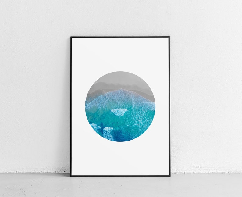 photograph about Ocean Printable identified as Aerial Ocean Photograph, Ocean Printable, Significant Wall Artwork, Aerial Sea Picture, Aerial Seashore Wall Artwork, Seaside Photograph, Beach front Printable, Beach front Poster