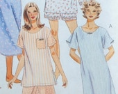 McCall's 7413 - Easy Sew Ladies' Pajamas, PJs, Sleepwear, Nightgown, Lingerie, Loungewear, Jammies, etc. - Size XS, Small, Med - UNCUT