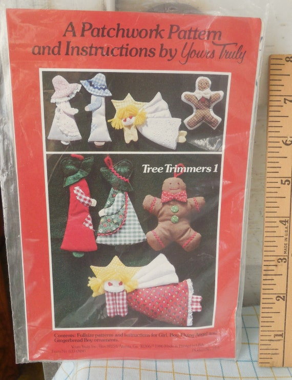 Vintage Ornament Instruction Pattern Book Plaid #7464 Tree Trimmers